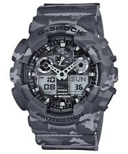 Casio G-Shock Analogue/Digital Mens Camouflage Grey Watch GA100CM-8A GA-100CM-8A