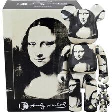 Medicom Be@rbrick Bearbrick Andy Warhol Double Mona Lisa 100% & 400% Set