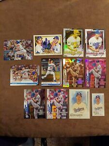 Walker Buehler Dodgers lot of (16) Topps, Chrome, Fire, Gallery, Donruss ++