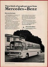 Old Magazine Advert ~ Mercedes Benz Coach - O302 Demonstrator VMK275G - 1968