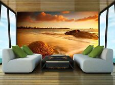 Sun Tinted Beach Wall Mural Photo Wallpaper GIANT DECOR Paper Poster Free Paste