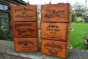 VINTAGE WOODEN  RUSTIC  STORAGE BOXES CHEST TRUG CRATE SHABBY  PERSONALISE