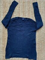 """Womens NAUTICA Knitter Jumper Pullover Sweater Navy Blue Size L Large 38-40"""""""
