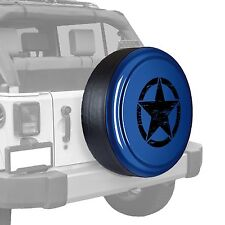 Oscar Mike Star - Painted  Tire Cover - Jeep Wrangler - True Blue