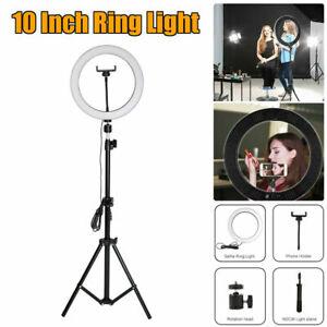 "10""LED Ringlicht Ringleuchte Selfie Fotografie Beauty Lampe mit 1.6M Lichtstativ"