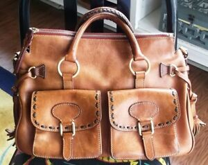 DOONEY AND BOURKE FLORENTINE LARGE LEATHER SATCHEL PRE-OWNED NICE!