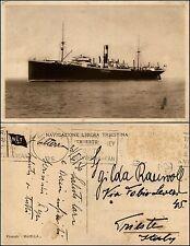 Navigazione Libera Triestina, piroscafo Maiella, viaggitata 1936