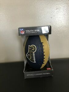 NIP! NFL LOS ANGELES RAMS YOUTH SIZE FOOTBALL! HD GRIP RAWLINGS NFC BALL GIFT 🔥
