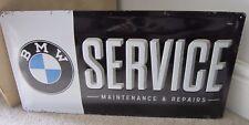 BMW Garage Service & Repariert, Geprägt XL Metall Schild 50x25cm German 320/X5/