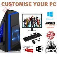 Cheap Gaming PC Intel Core i7 Win10 GTX1650 16GB RAM 128GB SSD 1TB HDD FORNITE