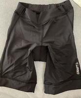 CRAFT Active Basic Women's Padded Cycling Shorts Size SMALL Black  NEW Ships USA