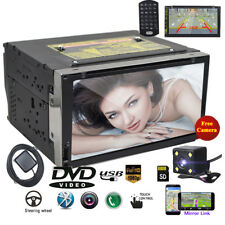 "7"" Smart Android6.0 3G WiFi Double 2DIN Car Radio Stereo DVD Player GPS+Camera"
