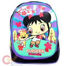 "Ni Hao Kai Lan Shcool Backpack 16"" Large Book  Bag -Flower Friends Purple"
