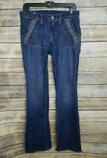 Citizens of Humanity Womens Cut 2762 Bootcut Jeans Unique Embroidered Pockets 29