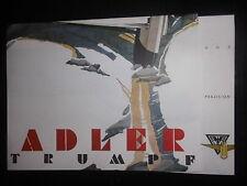 Prospekt Sales Brochure Adler Trumpf Technische Daten Motor 32 PS Auto Car