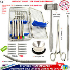 Sinus Lift Osteotomes Offset Implant osseux récolte Grattoir Graft Instruments