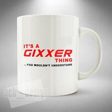 GIXXER Thing Mug Cup Coffee Tea Office Novelty Gift Motorcycle Suzuki