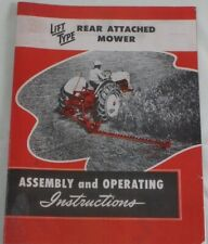 Ford Dearborn Economy Tractor Rear Attached Sickle Mower Owner's Manual