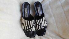 Women's Brighton Open Toe Mules Size 8 (AA,N) Dress Multi Color Black Leather