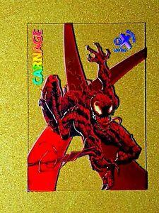 2017 Fleer Ultra Spider-Man EX CARNAGE Acetate Marvel EX11 Gem Mint HOT GRADE ME