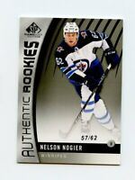 17/18 SP GAME-USED SPGU ROOKIE RC #112 NELSON NOGIER 57/62 JETS