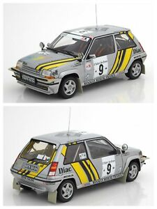 1/18 Norev Renault 5 GT Turbo Rallye Cote D'ivoire N°9 A.Oreille 1989 Neuf