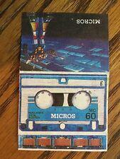 Micros Rumble Cassette Liner 1984 G1 Transformers Diaclone Rare