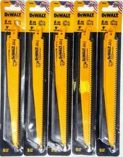 "(25-PACK) Dewalt DW4803 9"" 6tpi Wood w/Nails Reciprocating Saw Blades"