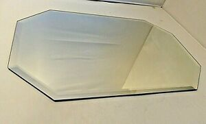 Beveled Edge Octagon Placemat: 12 x 18 in. Mirrors Formal Display Vanity Trays