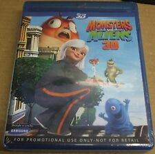 MONSTERS VS ALIENS BLU-RAY 3D FULL HD   FREE DELIVERY