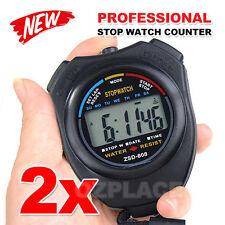 Premium Jumbo Stopwatch Handheld Waterproof LCD Sports Counter Digital Timer