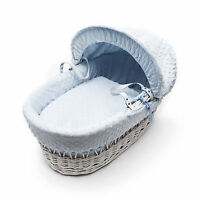 Blue Bubble Moses Basket Bedding Soft touch Cuddlesoft Marshmallow Dressing Set