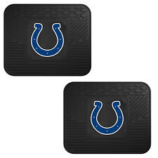 NFL Indianapolis Colts Car Truck 2 Back Utility All Weather Rubber Floor Mats