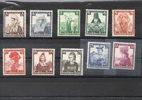 """Deutsches Reich MiNr.588**-597** """"Volkstrachten"""" 1935 postfrisch alle geprüft"""