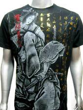 MMA Japanese Warrior Kimono Geisha Venum of Yakuza-Affliction Tattoo Art T-Shirt