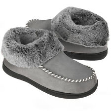 VONMAY Women's Bootie Slippers Memory Foam Ankle High House Shoes Warm Boots