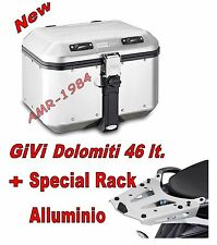 BAULE GIVI TREKKER DOLOMITI DLM46 + PIASTRA SRA5103  BMW F 700 800 GS 2013-16