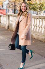 Topshop PETITE Beige Slim Fur Collar Wrap Wool Crombie Jacket Coat 4 - 18 New