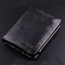 Brand New Men's Genuine Leather Trifold Wallet Quality Cash Credit Card Purse UK