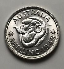 Stunning 1948 Australia Shilling Coin. High Grade Unc. Perfect 4 the collection