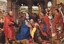 Alte Kunstpostkarte - Rogier van der Weyden - Dreikönigsaltar (Ausschnitt)