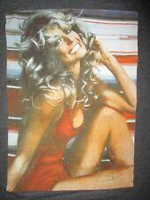Farrah Fawcett T-Shirt Klassisch Sexy Rot Badeanzug Poster Retro 70s Adult Med