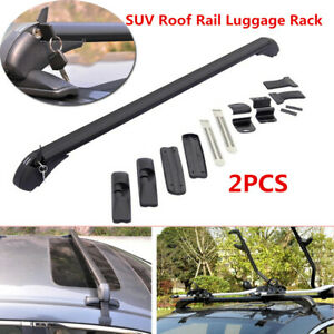 2X Car SUV Roof Rack Cross Bar Cargo Carrier Rail Luggage Rack Baggage Aluminum