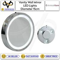 Vanity Mirror With LED Lights Wall Mirror 3 Suction Pods Make Up Shaving