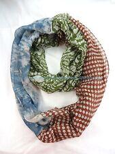 US SELLER , vintage boho retro circle loop infinity scarf double loop scarf