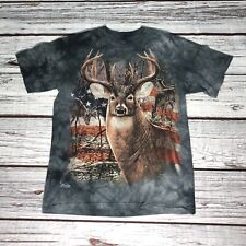 The Mountain Deer Patriotic Flag T Shirt Adult XS / S 2013 Buck USA