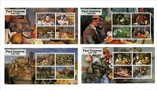 PAUL CEZANNE PAINTINGS ART 9 SOUVENIR SHEETS MNH UNPERFORATED
