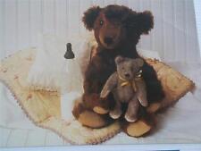 Vtg Teddy Bear Postcard Bebe & Toddler Real Photo VGC Unused Workman New York