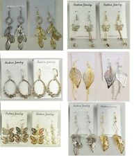 A-010 Wholesale Jewelry lot 12 pairs Mixed Style Drop  Fashion Dangle Earrings