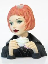 "Cameo Girls Head Vase Judith 2001 ""Latte Grande"" MIB  FREE SHIPPING"